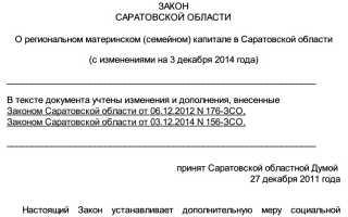 Материнский капитал в Саратове и Саратовской области: размер регионального маткапитала, необходимые для оформления документы и порядок использования