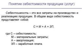 Как рассчитать себестоимость реализованной продукции по формуле