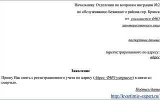 Какие документы нужны для выписки из квартиры умершего человека в России