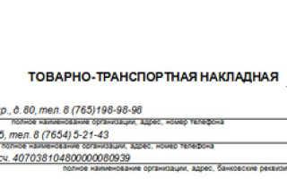 Особенности товарно-транспортной накладной (ТТН) в России