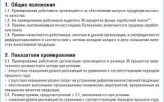 Повременно-премиальная система оплаты труда по ТК РФ