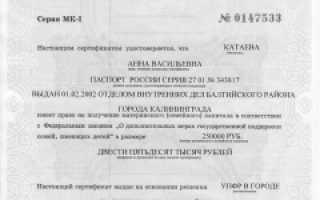 Материнский капитал в Анадырь и Чукотском автономном округе в России